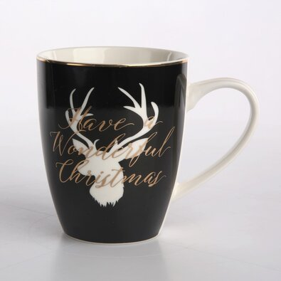 Altom Porcelánový hrnček Nordic Winter Deer, 340 ml