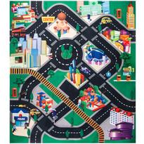 Detská hracia podložka s autíčkami Fashion city, 70 x 80 cm
