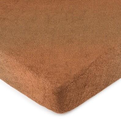4Home frottír lepedő barna, 90 x 200 cm
