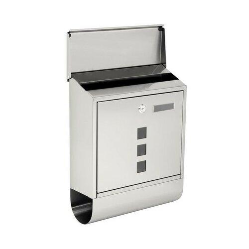 Poštová nerezová schránky s okienkami a tubusom BK.203.N