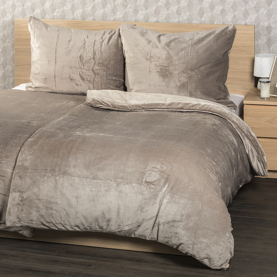 4home obliečky mikroflanel sivá , 160 x 200 cm, 2 ks 70 x 80 cm, 160 x 200 cm, 2 ks 70 x 80 cm