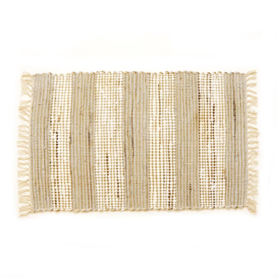 VOG Ručne tkaný koberec Juta svetlá, 60 x 90 cm