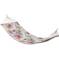 Leżak do zawieszenia Tropical leaves różowy, 200 x 80 cm