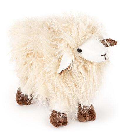 Plyšová ovca Hippies krémová, 30 cm