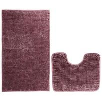 AmeliaHome Komplet dywaników łazienkowych Bati bordowy, 2 szt. 50 x 80 cm, 40 x 50 cm