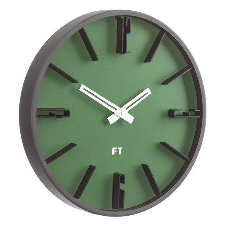 Future Time FT6010GR Numbers Designerski zegar ścienny, śr. 30 cm