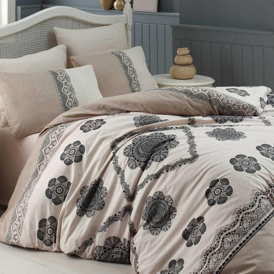 Homeville Bavlněné povlečení Cotton lace, 220 x 200 cm, 2x 70 x 90 cm, 2x 50 x 70 cm , 220 x 200 cm, 2 ks 70 x 90 cm