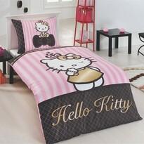 Lenjerie de pat Matějovský Hello Kitty Gold 140 x 200 cm, 70 x 90 cm