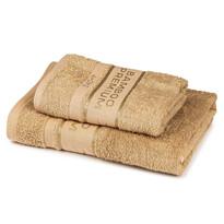 4Home Bamboo Premium törölköző és fürdőlepedő szett bézs színű , 70 x 140 cm, 50 x 100 cm
