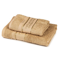 4Home Komplet Bamboo Premium ręczników beżowy, 70 x 140 cm, 50 x 100 cm