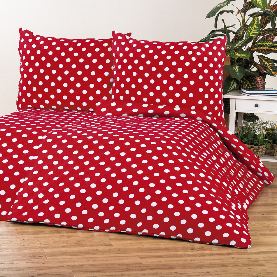 4Home bavlnené obliečky Bodka, červená