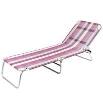 Leżak Beach, różowy