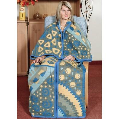 Televizní pytel Karmela Plus Geometrie modrá, 150 x 180 cm