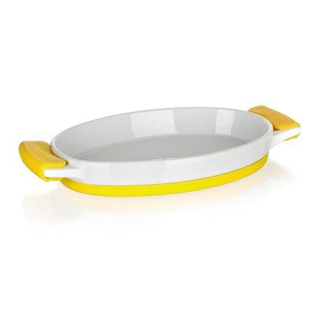 Banquet Zapékací mísa oválná COLOR PLUS Yellow 33 x 17 x 4,2 cm