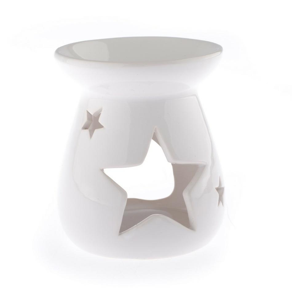 Keramická aromalampa Hvězda, bílá