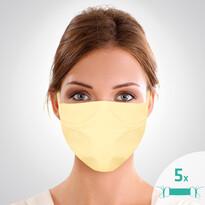 Mască facială de protecție din bumbac,16 x 24 cm, set 5 buc.