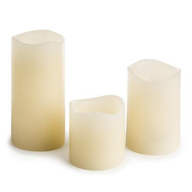 Sada voskových LED svíček, 3 kusy