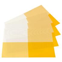 Podkładki DeLuxe żółty, 30 x 45 cm, zestaw 4 szt.