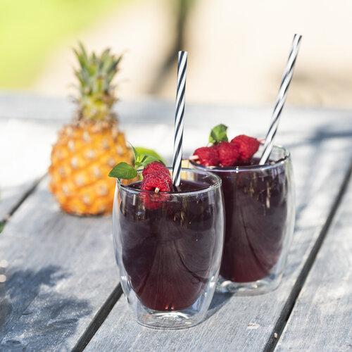 4home Termo sklenice Raspberry Hot&Cool  350 ml, 2 ks