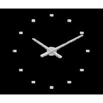 Nástenné hodiny Lavvu 3D LCT1 strieborná, pr. 73 cm