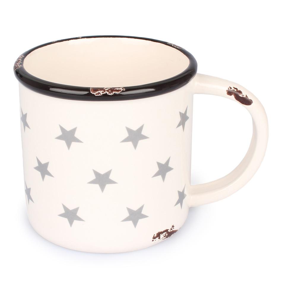 Dakls Keramický hrnek Hvězdy 400 ml, bílá