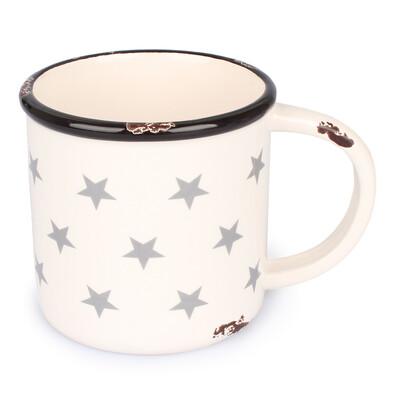 Keramický hrnek Hvězdy 400 ml, bílá
