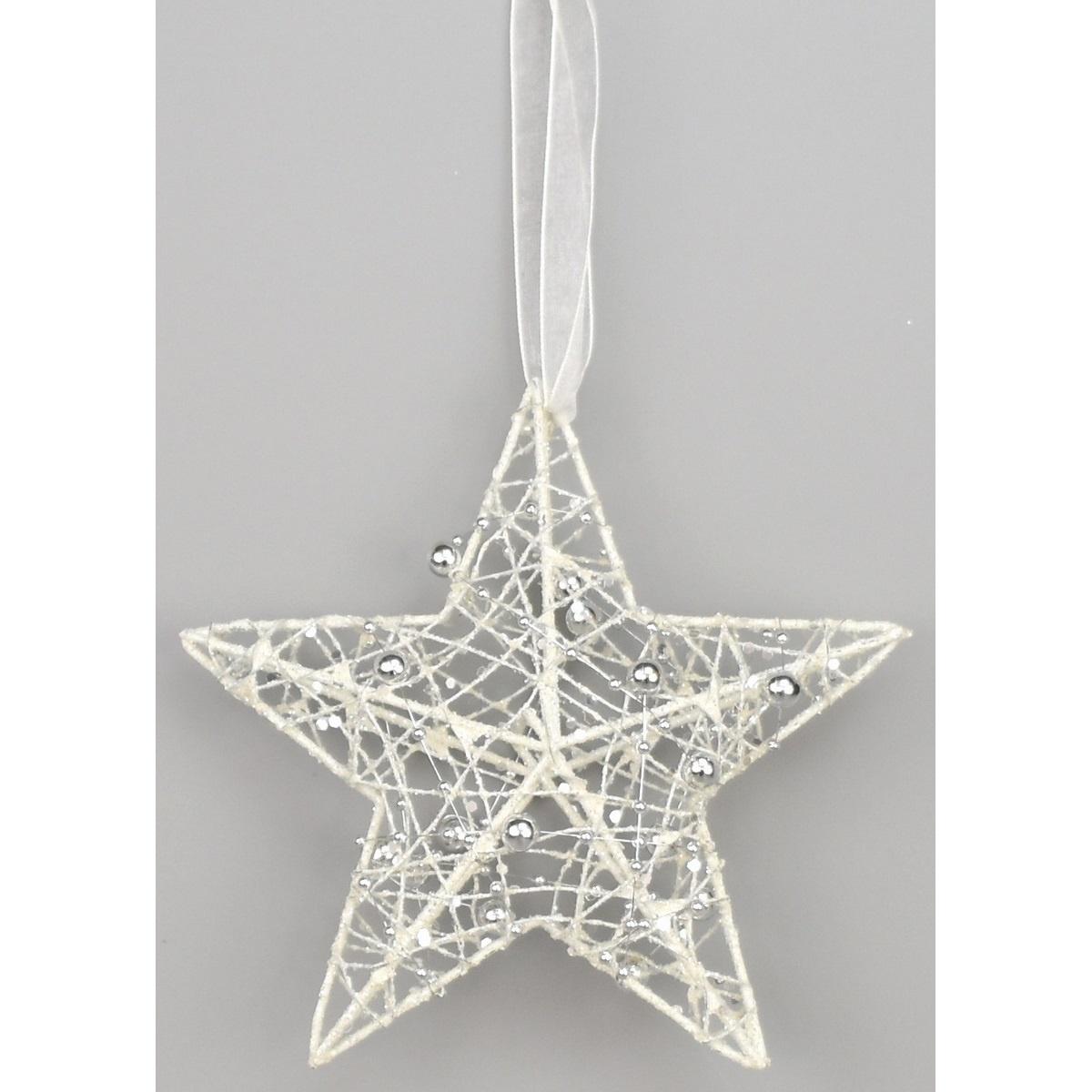 Vánoční hvězda Hesperia bílá, 15 cm