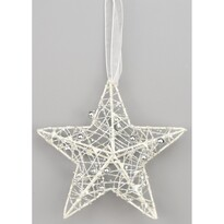 Hesperia karácsonyi csillag, fehér, 15 cm