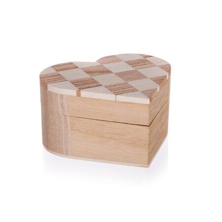Drevená krabička Chess, 10,7 x 10 x 6 cm