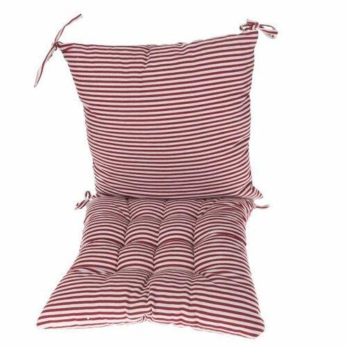 Dakls Prošívaný sedák Proužky červená, 40 x 40 cm