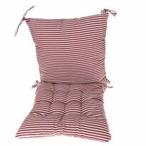 Prešívaný sedák Prúžky červená, 40 x 40 cm