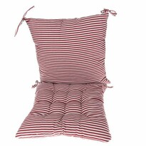 Prošívaný sedák Proužky červená, 40 x 40 cm
