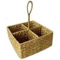 Proutěný košík dělený