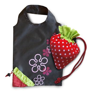 Skládací taška jahoda, hnědá