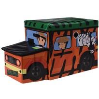 Dziecięcy pojemnik do przechowywania Safari bus pomarańczowy, 55 x 26 x 31 cm