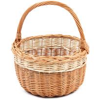 Koszyk wyplatany zakupowy Bolero, śr. 29 cm