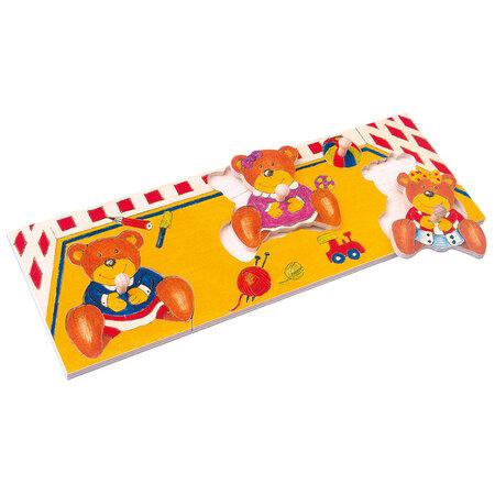 Bino Puzzle na doske Medvede