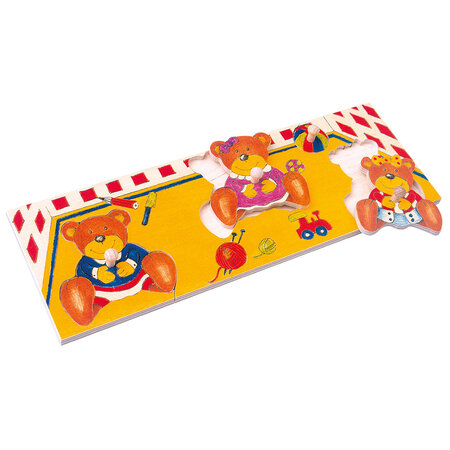 Bino Puzzle pe tablă Urs