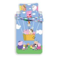 Lenjerie bumbac pentru copii Jerry Fabrics Peppa Pig 001, 140 x 200, 70 x 90 cm