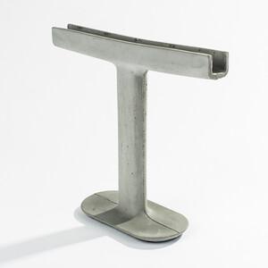 Svícen Candle Stick 26 cm, šedý