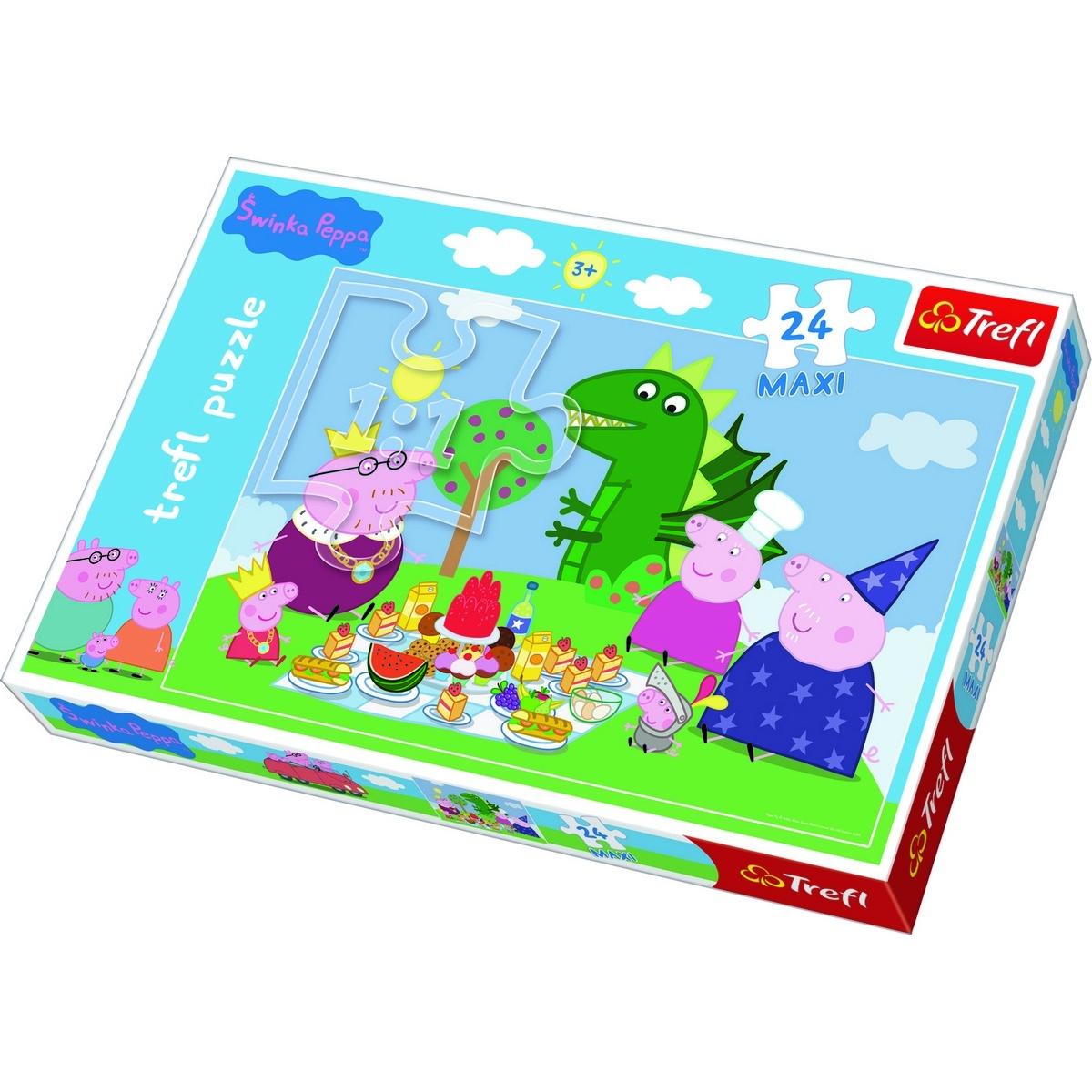 Trefl Puzzle Prasátko Pepina: Hostina MAXI 24 dílků