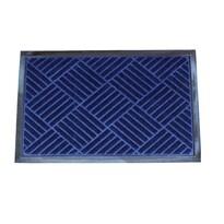 Gumová rohožka Checker modrá, 40 x 60 cm
