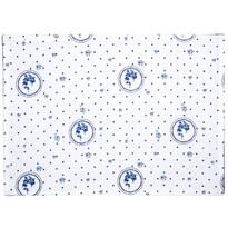 Suport farfurie Country cu buline, albastru, 33 x 45 cm