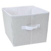 Tárolódoboz 39 x 30 x 24 cm, szürke-fehér