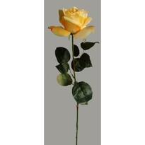 Umelá kvetina Ruža žltá, 60 cm