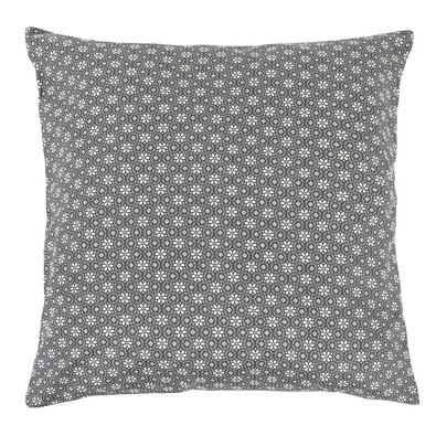 Polštářek Rita Kruhová kytička šedá, 40 x 40 cm