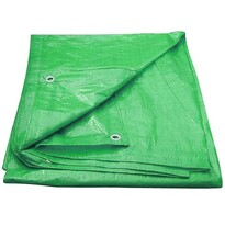 Płachta kryjąca z okami 4 x 6 m 100 g/m2, zielona