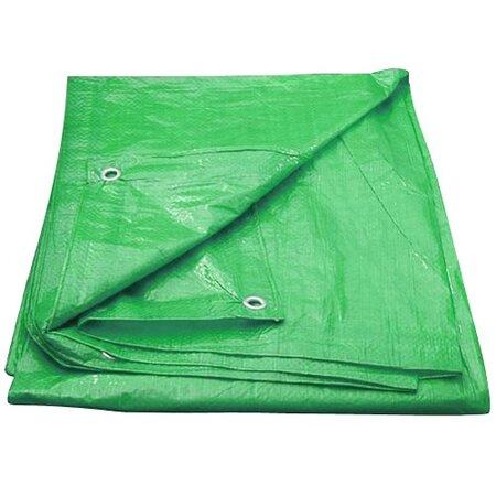 Takaróponyva szemekkel 4 x 6 m 100 g/m2, zöld
