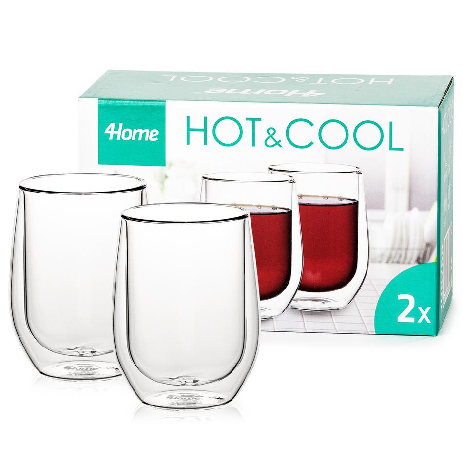 Produktové foto 4home Termo sklenice Classic Hot&Cool, 300 ml, 2 ks