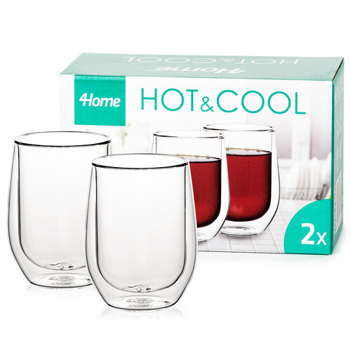 4home Termo sklenice Classic Hot&Cool  300 ml, 2 ks